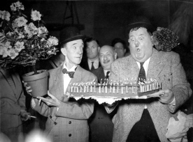 LAUREL and HARDY in Paris FRANCE 1951