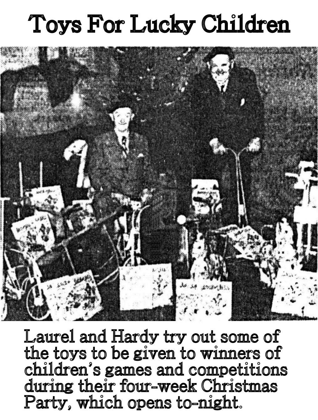 Laurel and Hardy books Christmas 1953 by A.J Marriot.