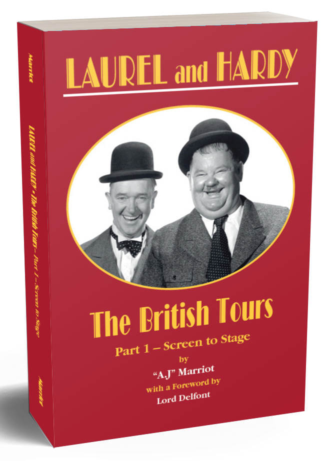 Laurel and Hardy Books British Tours pt1 2019 reprint by A.J Marriot