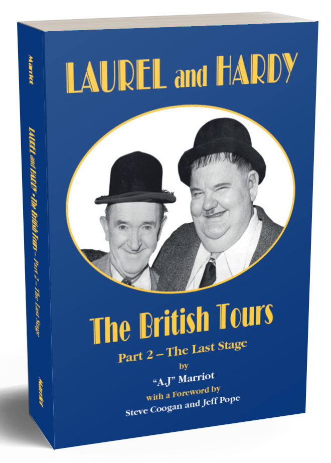 Laurel and Hardy Books British Tours pt2 2019 reprint A.J Marriot