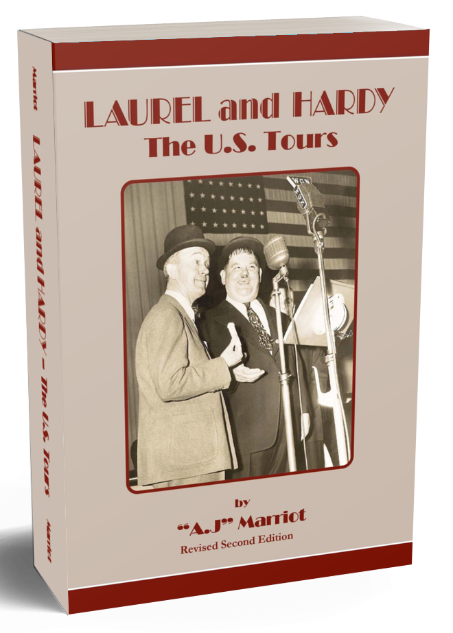 Laurel and Hardy Books US Tours pt1 2019 reprint by A.J Marriot