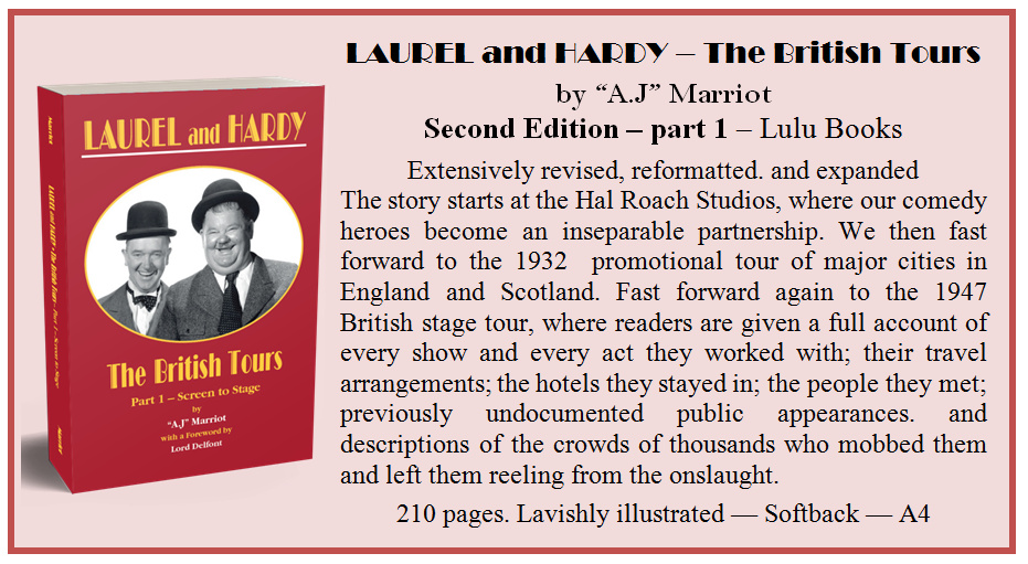 Laurel and Hardy British Tours pt1 by A.J Marriot