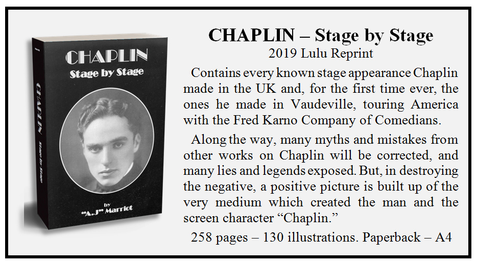 Charlie Chapli Stage Tours by A.J Marriot