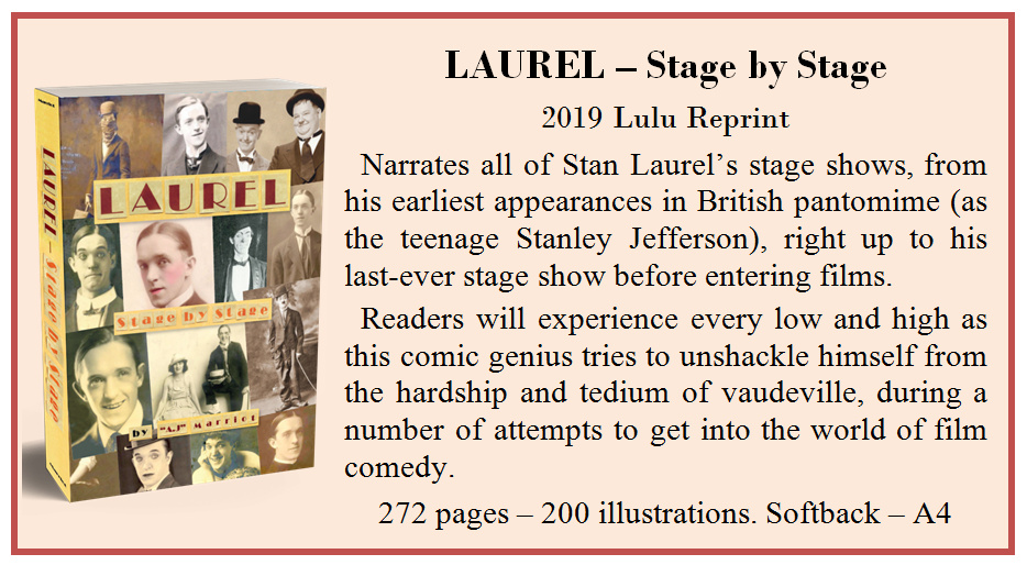 Stan Laurel Stage Tours by A.J Marriot