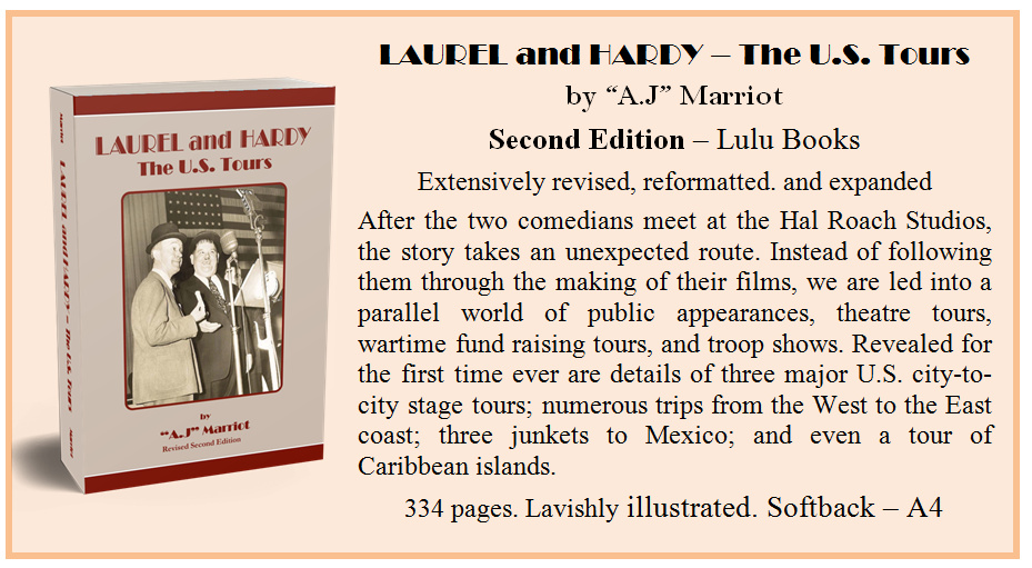 Laurel and Hardy US Tours by A.J Marriot