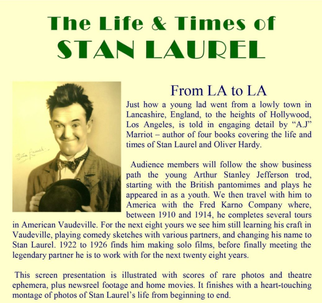 STAN LAUREL Life and Times